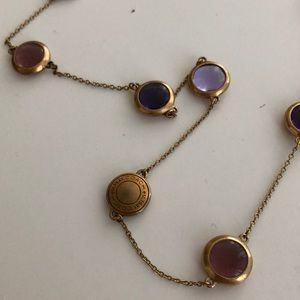 Purple Coach Charm necklace